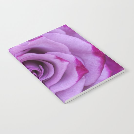 Heart of a rose I - Pink and purple Roses flowers Notebook