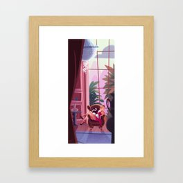 Afternoon with a cat Framed Art Print