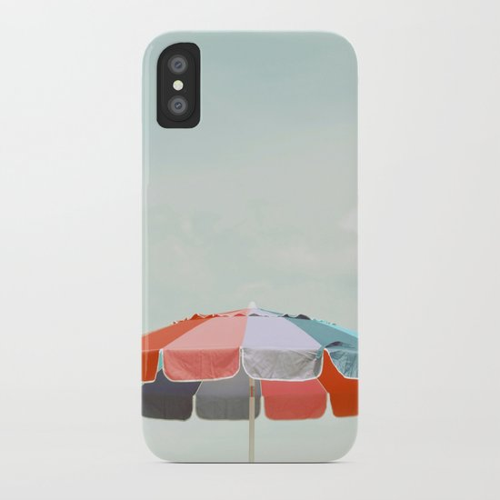 beach umbrella iPhone Case