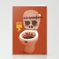 toilet Stationery Cards featuring Toilet Bowl by YONIL