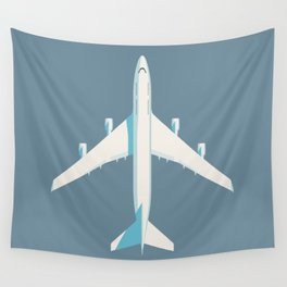 747 Jumbo Jet Airliner Aircraft - Slate Wall Tapestry