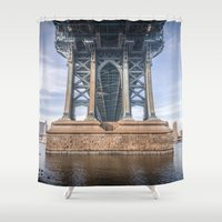 dumbo Shower Curtains featuring DUMBO by MikeMartelli