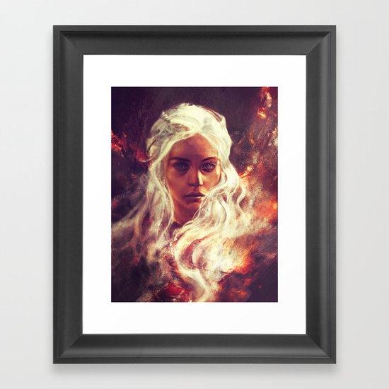 Fireheart Framed Art Print