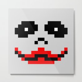 Joker 8bit Metal Print