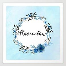 HP Ravenclaw in Watercolor Art Print