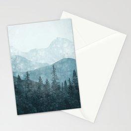 Morning Glory - turquoise Stationery Cards