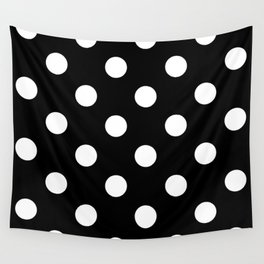 Polkadot (White & Black Pattern) Wall Tapestry