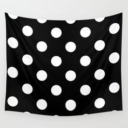 Polkadot (White & Black Pattern) Wall Tapestry
