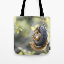 Wheeeee Goes The Squirrel Tote Bag