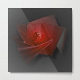 Vampire Rose Metal Print