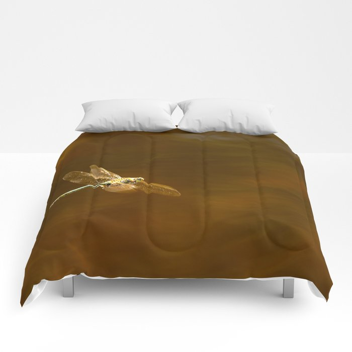 Dragonfly In Flight #decor #society6 Comforters