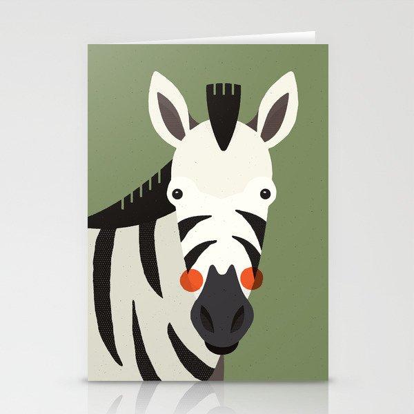 Zebra, Animal Portrait Stationery Cards