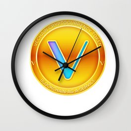 Vechain Cryptocurrency Design Wall Clock