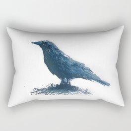 Blue crow Rectangular Pillow