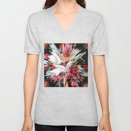 Floral Glitch II Unisex V-Neck