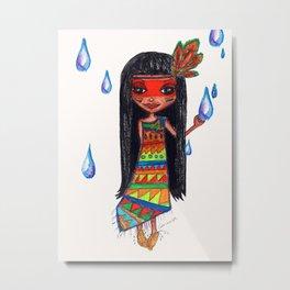 A menina que chovia Metal Print