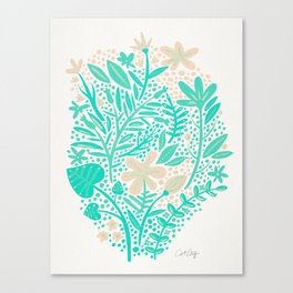 Garden – Mint & Cream Palette Canvas Print