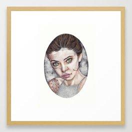 Ink Henna Inspired Portrait Framed Art Print