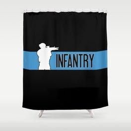 Infantry Blue Shower Curtain