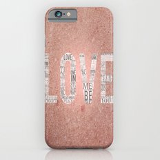 Love in a Word  iPhone 6s Slim Case