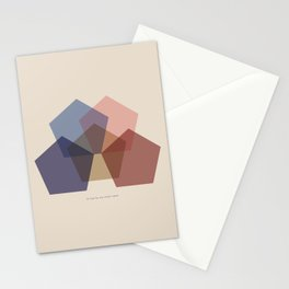Rose Five Stationery Cards