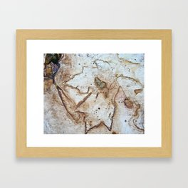 Maple Leaf Etching Framed Art Print