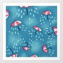 Raining Umbrella Pattern by borianagiormova