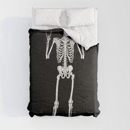 Metal and Rock and Roll Skeleton Comforters