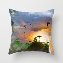 The Architect Of Time Throw Pillow