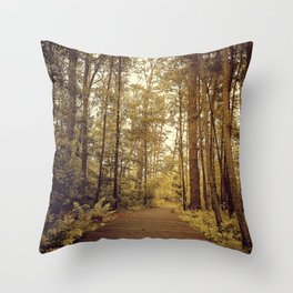 Into the Forst Throw Pillow