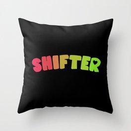 Shifter (Aroflux) Throw Pillow