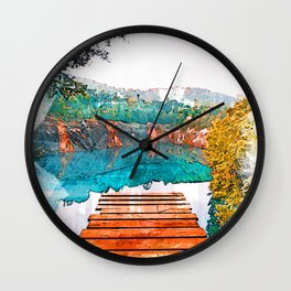 Blue Cove Athens USA Jetty - Jetties Around The World Wall Clock
