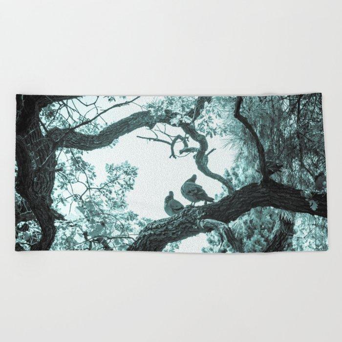 Secret life of tree 2 Beach Towel