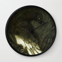 monster Wall Clocks featuring Monster by Jana Heidersdorf Illustration