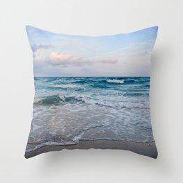 Calm Beach Throw Pillow