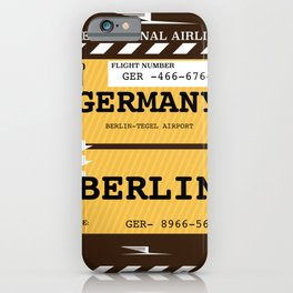 Germany, Berlin travel ticket iPhone Case