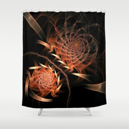 flames on black -500- Shower Curtain