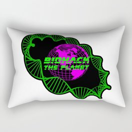 Biohack The Planet Rectangular Pillow