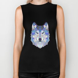 Colorful Wolf Biker Tank