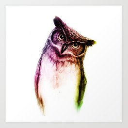 The wise Mr. Owl Art Print