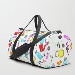 Work Out Items Pattern Duffle Bag