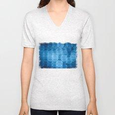 circles light blue Unisex V-Neck