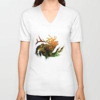 elk V-neck T-shirts featuring Elk by Justin Kedl
