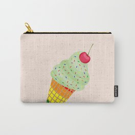 Colorful Ice Cream Cone Design Carry-All Pouch
