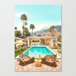 Tigers Glamour Canvas Print