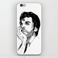 dexter iPhone & iPod Skins featuring Dexter by Giorgia Ruggeri
