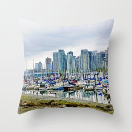 Vancouver Skyline At Stanley Park Throw Pillow