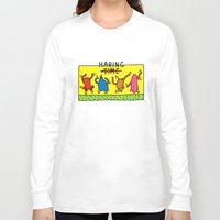 keith haring Long Sleeve T-shirts featuring Haring Time by le.duc