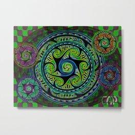 Variated Spheres #1 Psychedelic Celtic Design Metal Print
