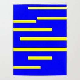 Bright Blue, Bright Yellow Graphic Design Poster